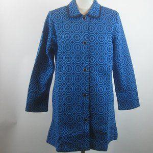 Isaac Mizrahi Geo Floral Jacquard Knit Jacket NEW